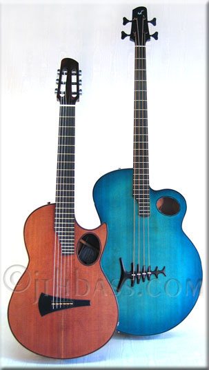 Moderna guitar & Bluejay bass
